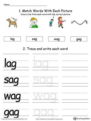 AG Word Family List | MyTeachingStation.com