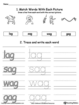 Ap Word Family Connect Trace And Write Myteachingstation