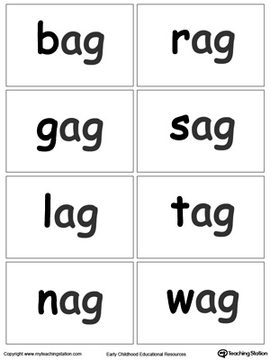 AG Word Family Flash Cards