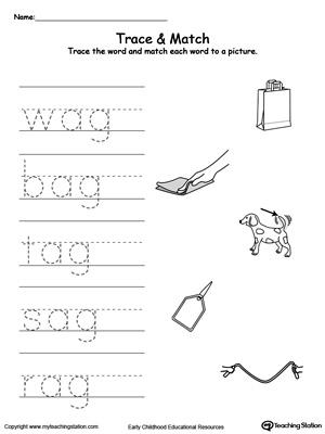 Word Family - ag words Worksheet I abcteach.com | abcteach