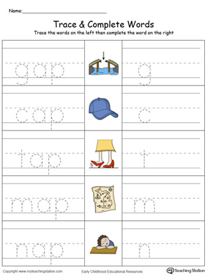 best free word family worksheets images on pinterest ap