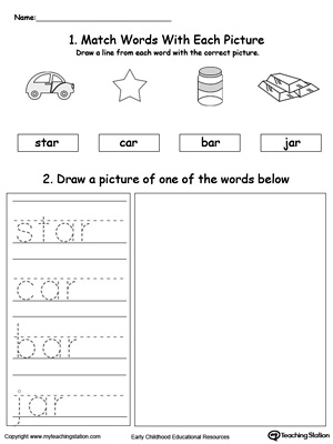 AR Word Family Phonics and Writing Practice
