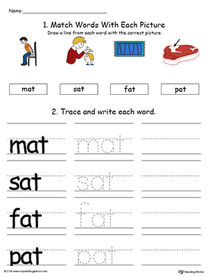 Kindergarten Writing Printable Worksheets Myteachingstation