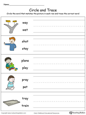 Kindergarten word families printable worksheets myteachingstation identify word and write ay words in color ibookread ePUb