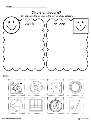 Shape Sorting: Place the Circles and Squares into the Correct Category