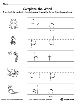 Kindergarten Reading Printable Worksheets Myteachingstation