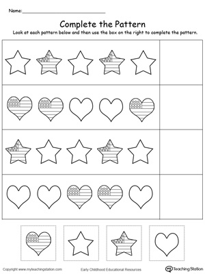Kindergarten Printable Worksheets Myteachingstation