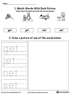 ET Word Family Phonics and Writing Practice