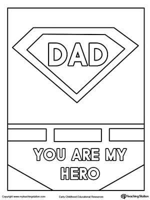 Father's Day Card. Superhero Outfit.
