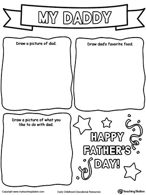 Personalized Father's Day Card Drawing Activity