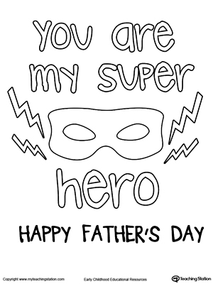 Father's Day Card. Superhero Mask.