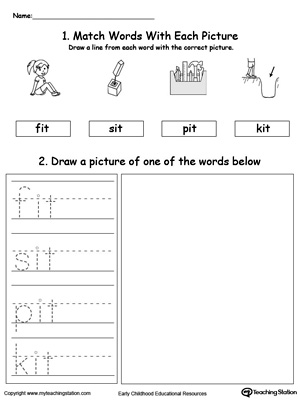 IT Word Family Phonics and Writing Practice