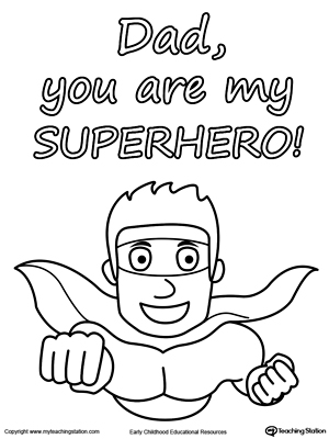 Father's Day Card. You are My Superhero.