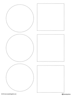 Line Tracing: Square and Circle