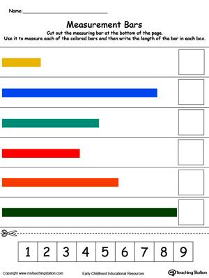 Early Childhood Measurement Worksheets Myteachingstation