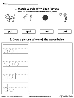 OT Word Family Phonics and Writing Practice