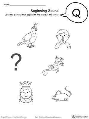 coloring pages starting with q | The Letter Q is for Queen | MyTeachingStation.com
