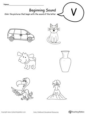 Letter V Worksheets For Kindergarten Preschool Printable ...