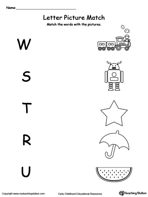 Early Childhood Alphabet Worksheets