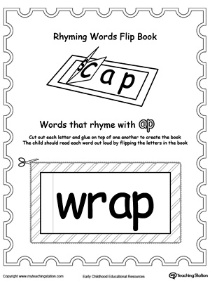 Use this Printable Rhyming Words Flip Book AP to teach your child to see the relationship between similar words.
