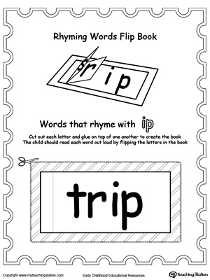 Use this Printable Rhyming Words Flip Book IP to teach your child to see the relationship between similar words.