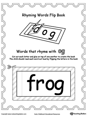 Use this Printable Rhyming Words Flip Book OG to teach your child to see the relationship between similar words.
