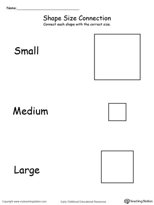 Small, Medium and Large Shapes