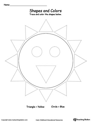 Trace Shapes to Make a Sun