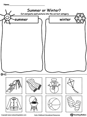 Sorting Summer and Winter Seasonal Items