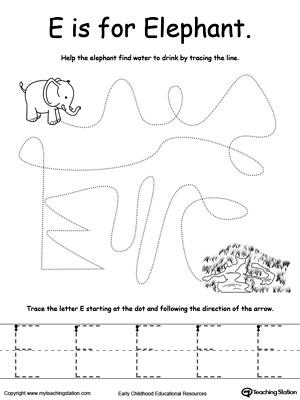 the letter e is for elephant. Black Bedroom Furniture Sets. Home Design Ideas