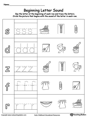 trace and match beginning letter sound ed words myteachingstation com
