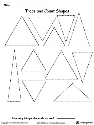 Trace and Count Triangle Shapes