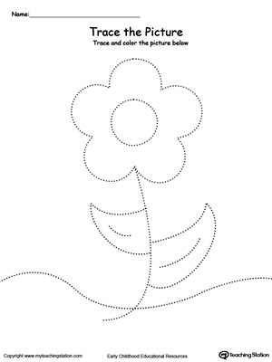 Flower Picture Tracing