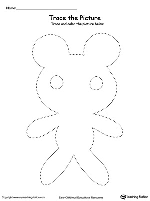 Teddy Bear Picture Tracing