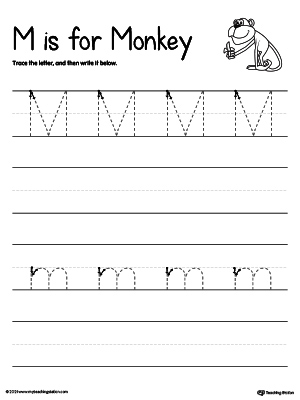 Tracing And Writing the Letter M | MyTeachingStation.com