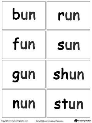 UN Word Family Flash Cards