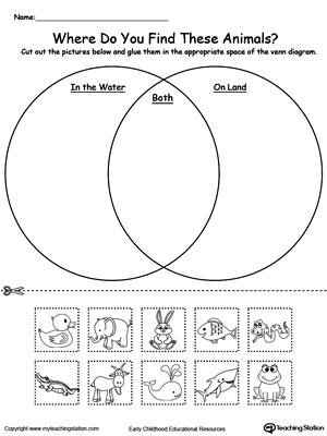 Land Water Venn Diagram Template Block And Schematic Diagrams