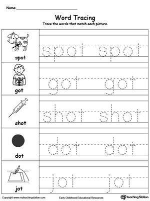 Printable &quot-ot&quot- Word Family Worksheets | ot Word Family Word Search ...