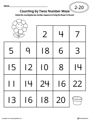 Early Childhood Writing Numbers Worksheets | MyTeachingStation.com