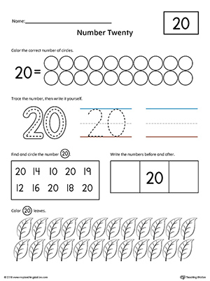 Kindergarten Counting Worksheets - Sequencing to 25