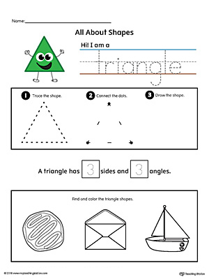 All About Triangle Shapes in Color