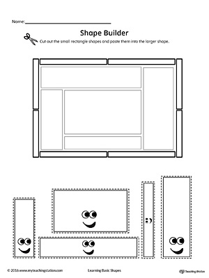 Use the Rectangle Geometric Shape Builder Worksheet to help your child practice recognizing basic geometric shapes.