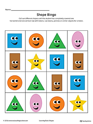 Mesmerizing image within shape bingo printable