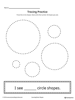 Geometric Shape Counting and Tracing: Circle