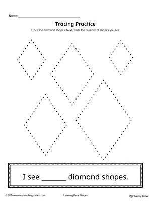 Geometric Shape Counting and Tracing: Diamond