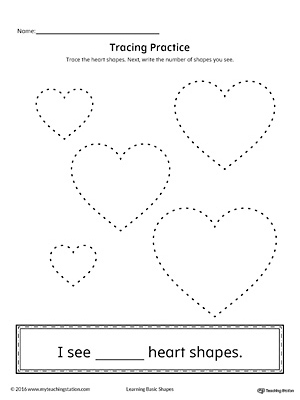 Geometric Shape Counting and Tracing: Heart