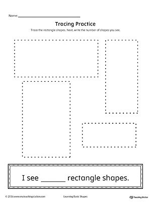 Geometric Shape Counting and Tracing: Rectangle