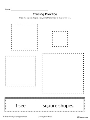 Geometric Shape Counting and Tracing: Square