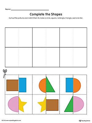 Early Childhood Shapes Worksheets Myteachingstation