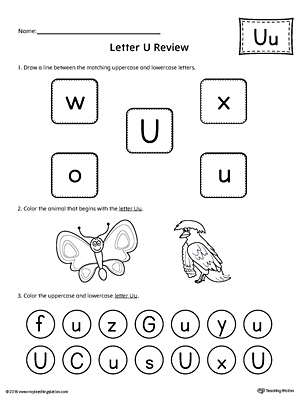 Preschool writing printable worksheets myteachingstation all about letter u printable worksheet altavistaventures Images